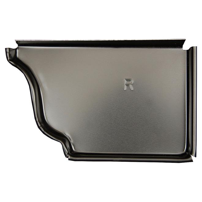 "Aluminum K-Style Right End Cap - 5"" - Black"