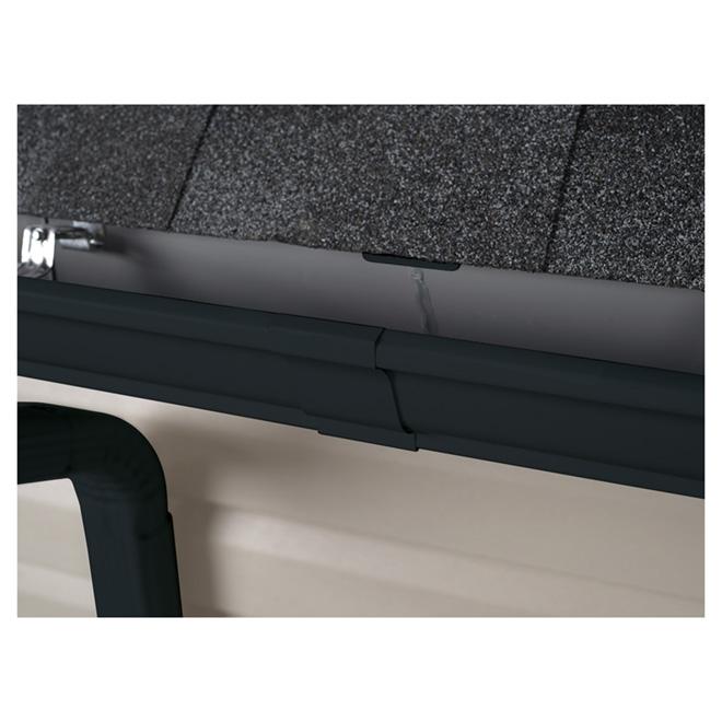 """Gouttière en aluminium K-Style, 5"""" x 10', noir"""