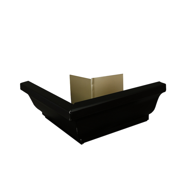 """K-Style Outside Gutter Corner - Aluminum - 5"""" - Black"""
