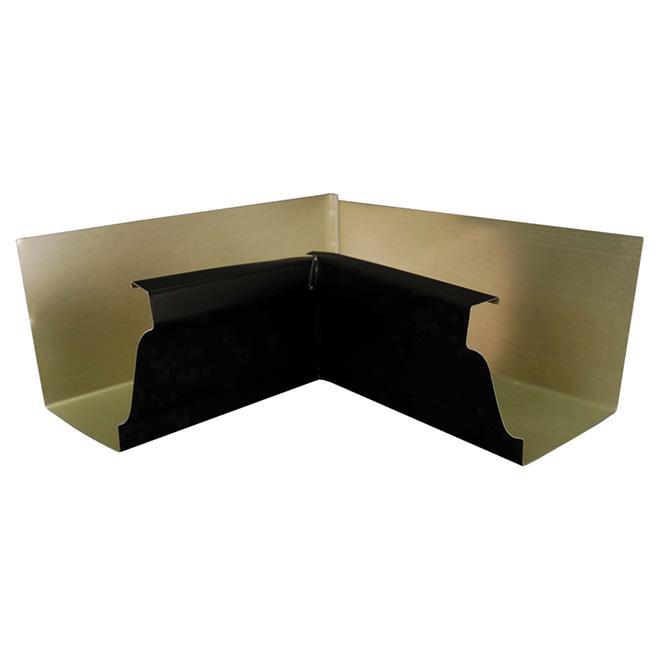 """K-Style Inside Gutter Corner - Aluminum - 5"""" - Black"""