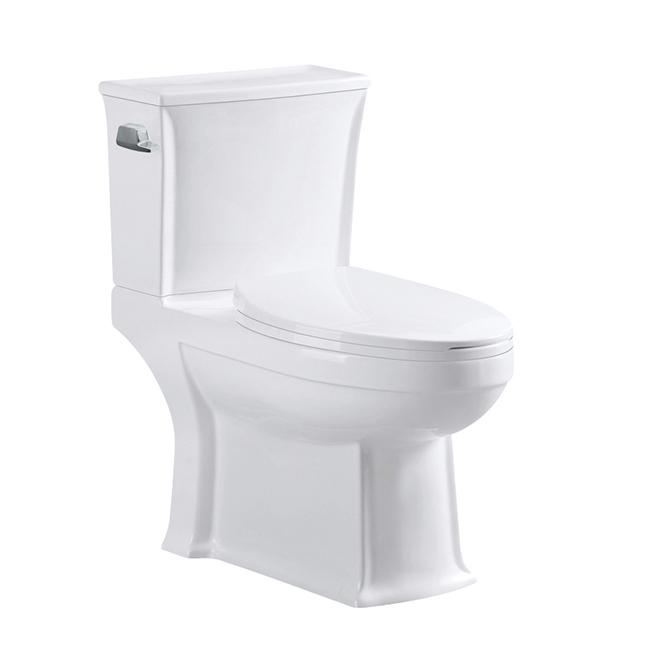 Toilette à 2 pièces à cuve allongée, 4,8 l, blanc