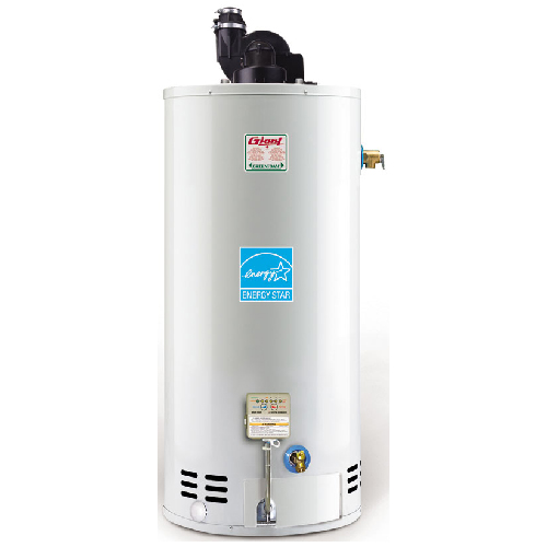 Gas Water Heater 50 Gal - 40 000 BTU - White