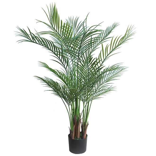 """Palmier artificiel en plastique, 5"""" x 5"""" x 40"""", vert"""