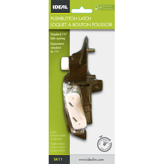 Screen Door Latch Set - Brown