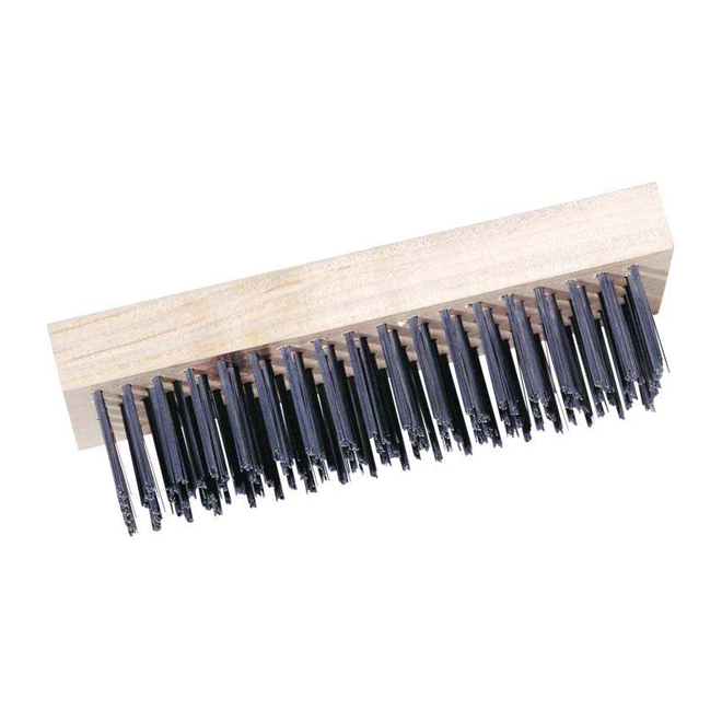 "Simms - Wire Brush - 6"" x 2"" - Wood/Steel"