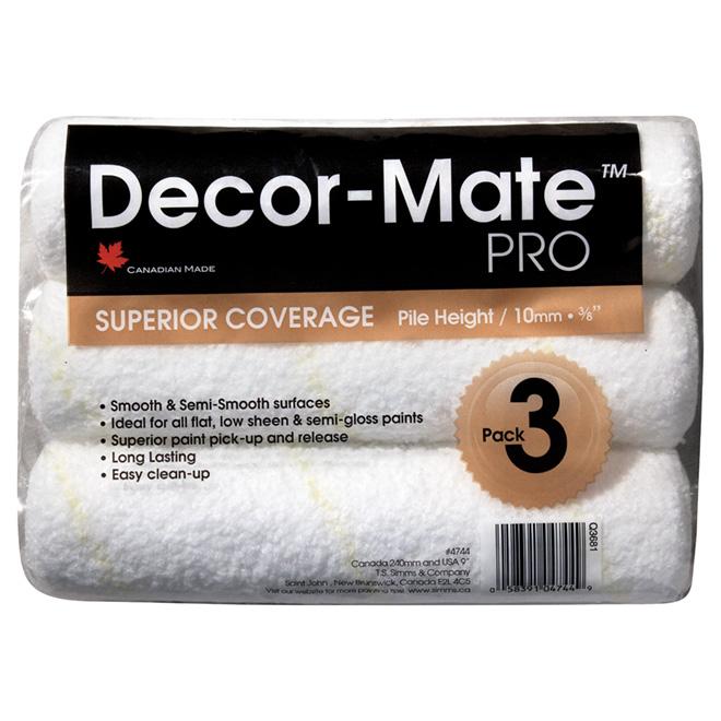 Decor-Mate - PRO Roller Refills - 10 Mm - 3/Pack