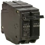 Disjoncteur standard, 2 Pôles, 15A, 120/240V