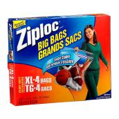 4-Pack of Extra Large Plastic Bags - Clear