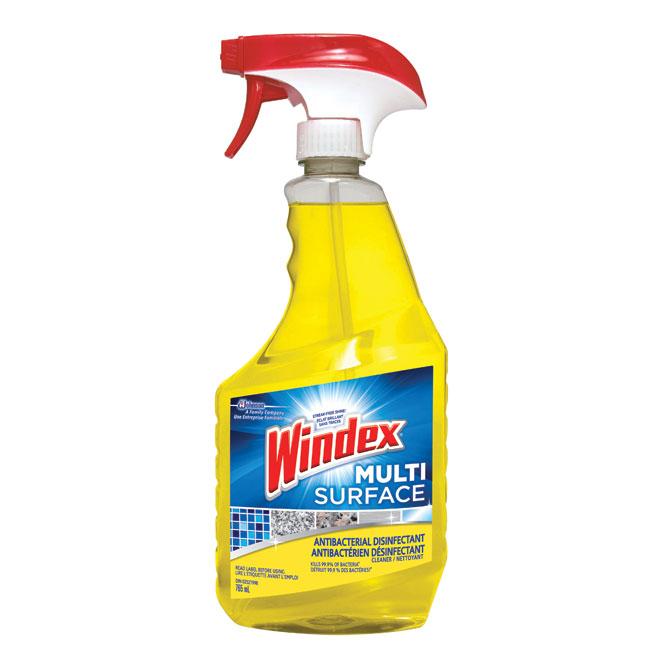 Nettoyant multi-surface Windex, antibactérien, 765 ml