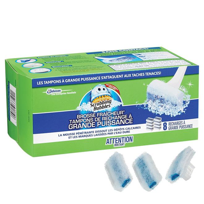 Tampons de nettoyage pour cuvette, paquet de 8 recharges