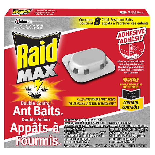 Appâts à fourmis, Double Action, 8/pqt