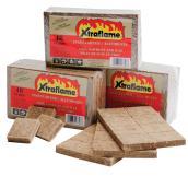 Allume-feu, cire et sciure de bois XTraflame, 48/pqt