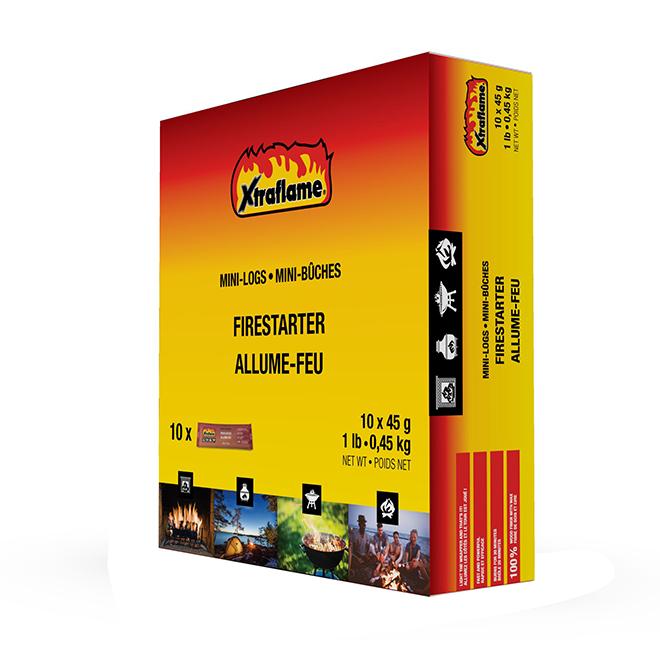 Xtraflame(R) Wood Fiber Firestarter - Mini Logs - 10/Box