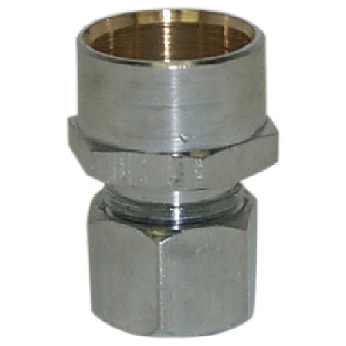 Compression Brass Straight Adapter