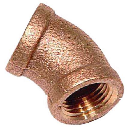 "Elbow - Brass - 45° - 1/2"" x 1/2"" - FIP x FIP"