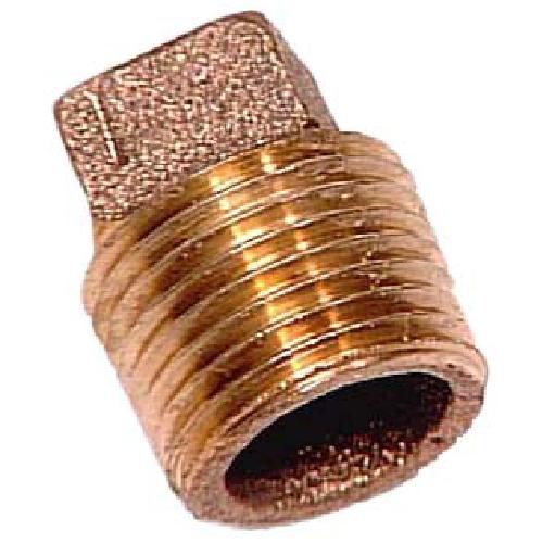 "Plug - Brass - Square Head - 1/2"" - MIP"