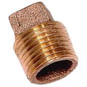Plug - Brass - Square Head - 1/2