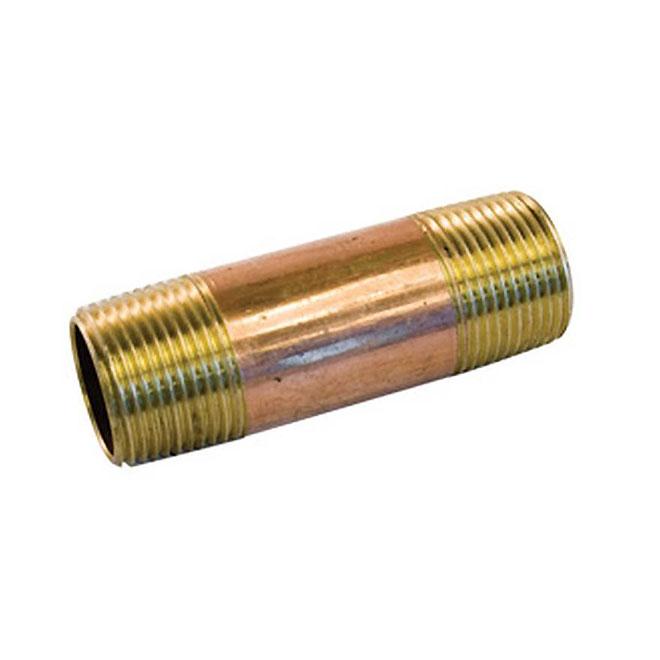 Lead-Free Male Threaded Brass Nipple - 3/8'' x 2''