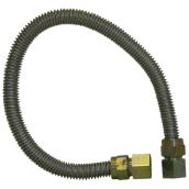 "Gas Connector - Flexible - 3/4"" x 24"" - Stainless Steel"