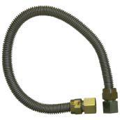 """Connecteur flexible pour gaz, 1/2"""" x 24"""", acier inoxydable"""