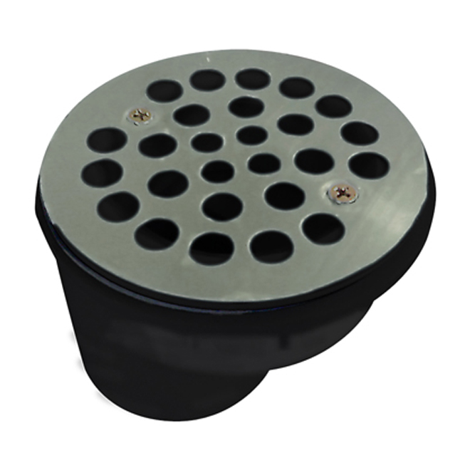 "Shower Drain - 2"" - ABS/Steel - Stainless Steel"