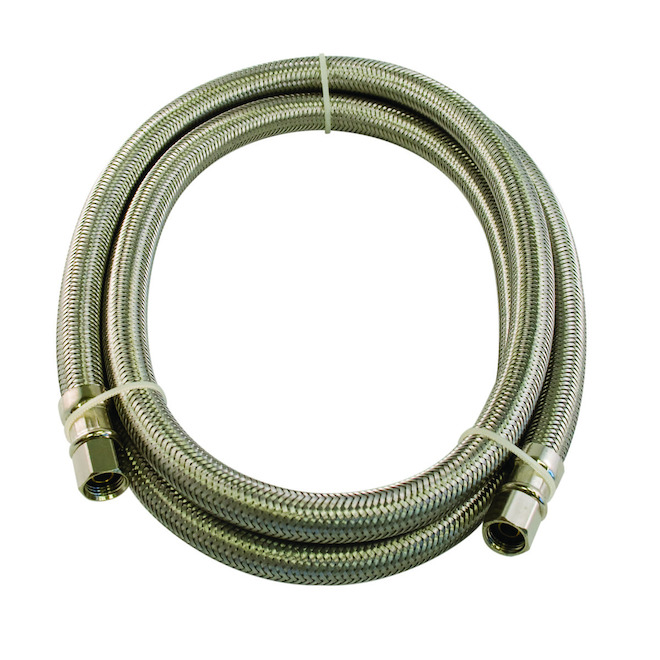 """Flexible Connector - Braided Stainless Steel - 1/4"""" x 120"""""""