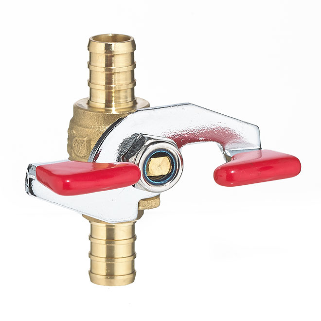Ball Valve with Tee Handle - Forged Brass - 1/2""