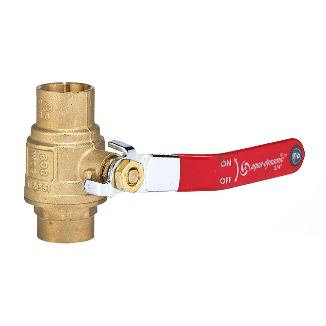 Ball Valve -  Forged-Brass Solder Ends - 3/4''