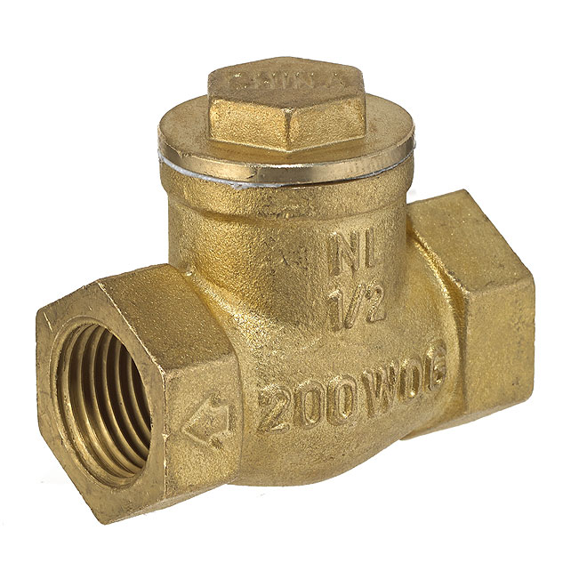 "1/2"" Threaded Brass Swing Check Valve"