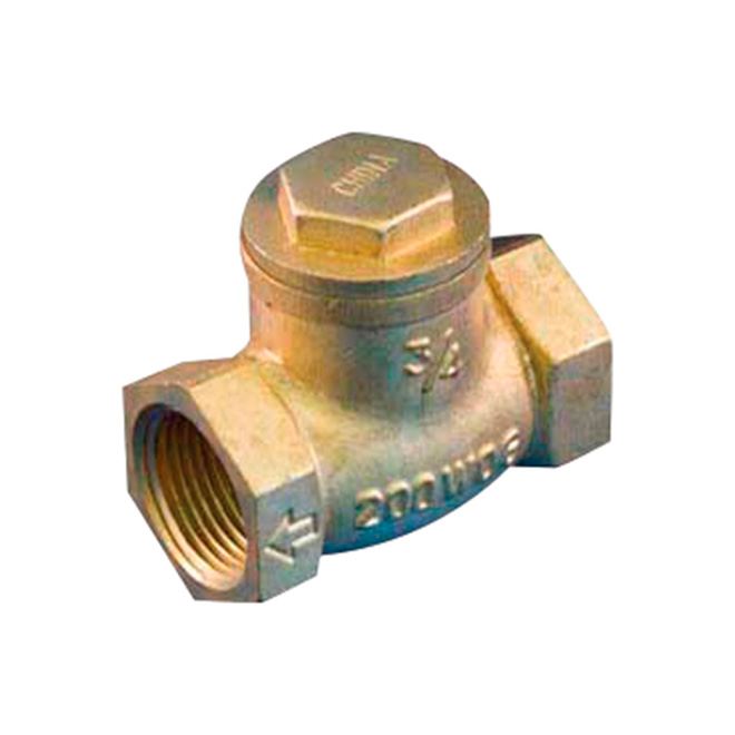 "1 1/4"" Threaded Brass Swing Check Valve"