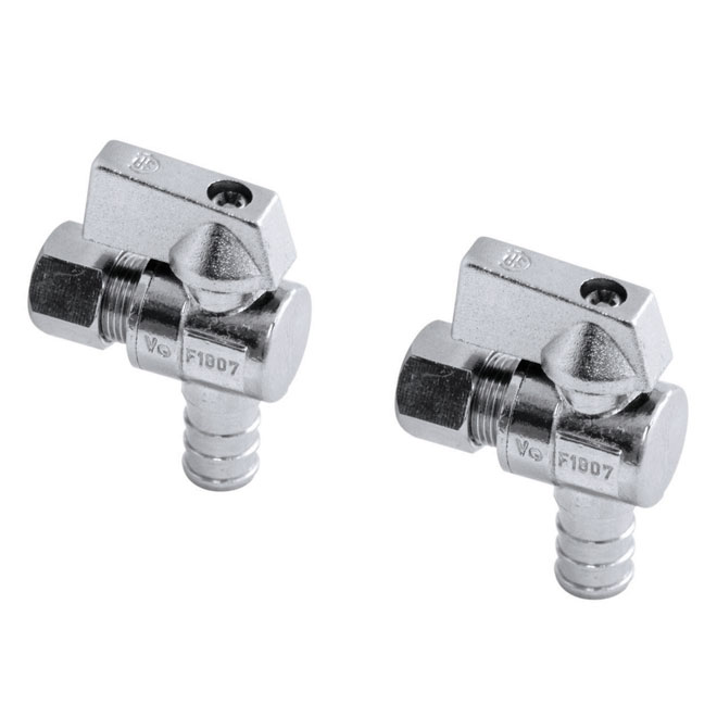 "Aqua-Dynamic Stop Ball Valves - 1/2"" x 3/8"""