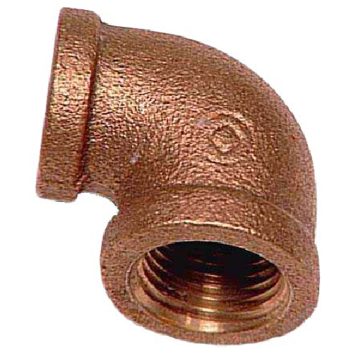 "Elbow - Lead-Free Brass - 90° - 1/2"" x 3/8"" - FIP x FIP"