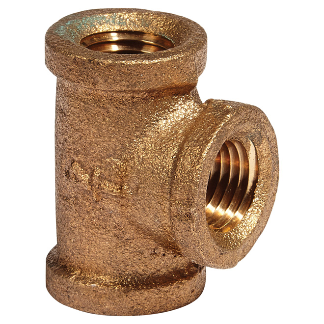 "T-Fitting - Lead-Free Brass - 1/4"" - FIP x FIP x FIP"