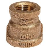 "Reducer Coupling - Lead-Free Brass - 3/8"" x 1/4"" - FIP x FIP"