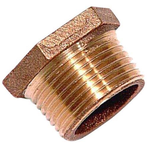 """Hex Bushing - Lead-Free Brass - 3/4"""" x 1/2"""" - MIP x FIP"""