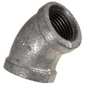 Galvanized Elbow - 45° - 1/4""