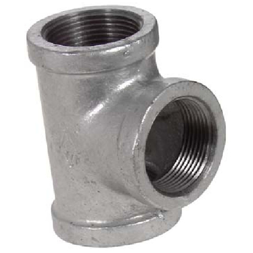 "Galvanized Tee - 1 1/4"" - Iron"