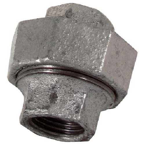 Galvanized Threaded Union - 1/4""