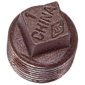"Black Iron Plug with Square Head - 1"""