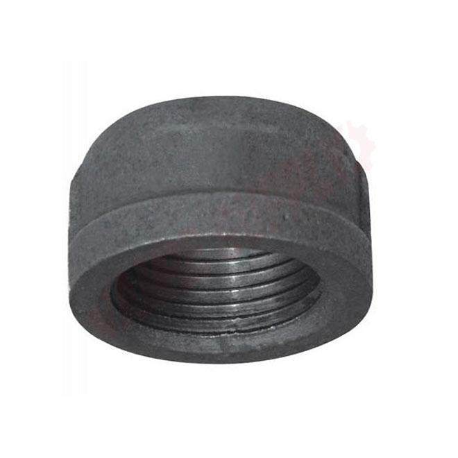 Black Steel Cap - 1/4''