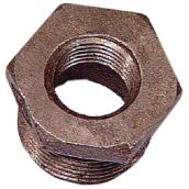 "Black Iron Hex Bushing - 1/2"" x 3/8"""