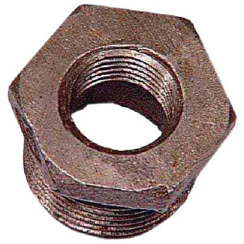 "Black Iron Hex Bushing - 3/4"" x 3/8"""