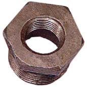 "Black Iron Hex Bushing - 3/4"" x 3/8"""
