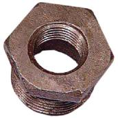 "Black Iron Hex Bushing - 3/4"" x 1/2"""