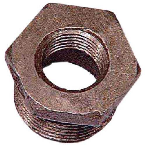 "Black Iron Hex Bushing - 1"" x 3/4"""