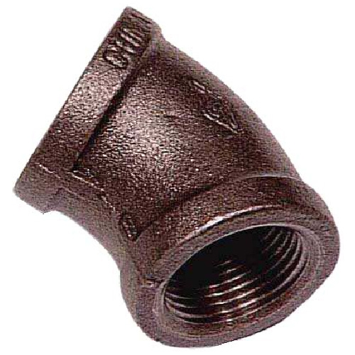 Black Iron Elbow - 1/2""