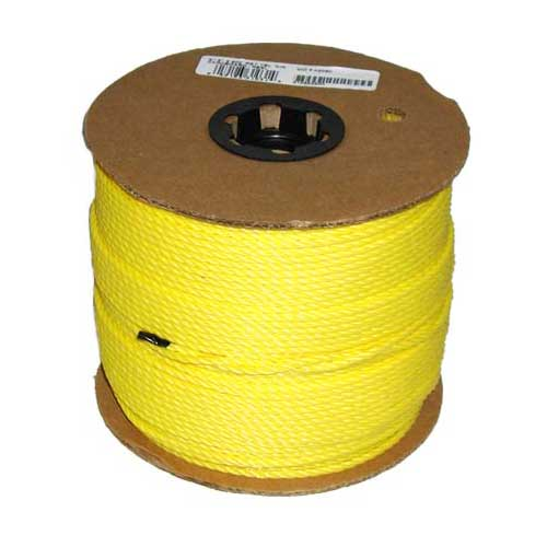 """Twisted Rope - 3-Strand - 3/16"""" - Yellow"""