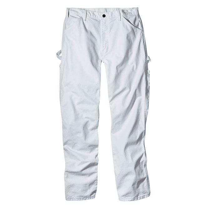 """Men's Painter's Pants - Cotton - White  - Size 34"""""""