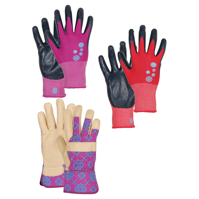 Gardening Gloves for Women - 3 Pairs