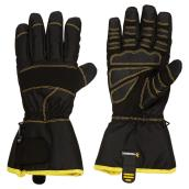 Nylon and Leather Large Gloves for Men